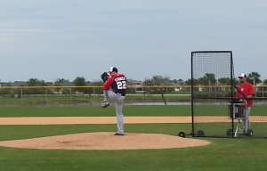Drew Storen comes to the plate using the traditional leg kick he began using late last season.